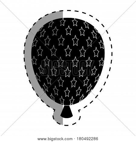 balloon air with stars vector illustration design