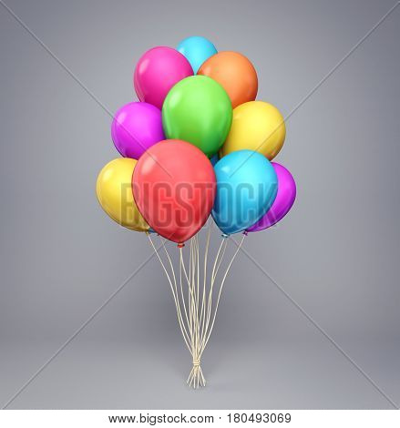 balloons isolated on a white background. 3d illustration