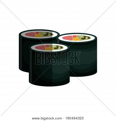 sushi japanese food icon vector illustration design