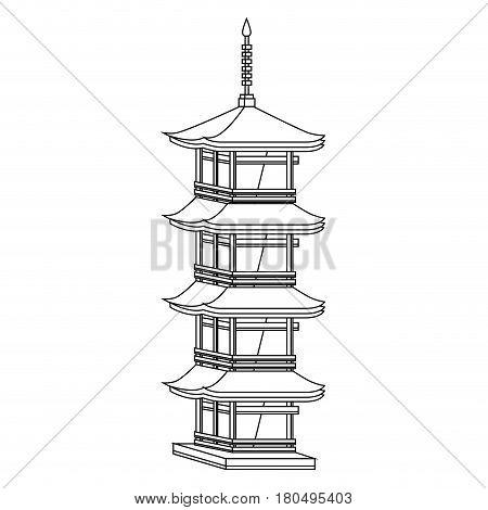 castle japanese building icon vector illustration design