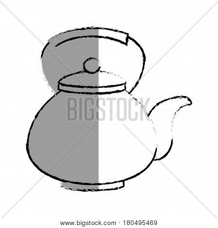 teapot japanese culture icon vector illustration design