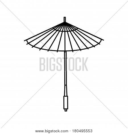 japanese umbrella isolated icon vector illustration design