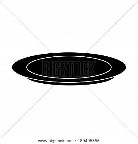plate dishware icon image vector illustration design
