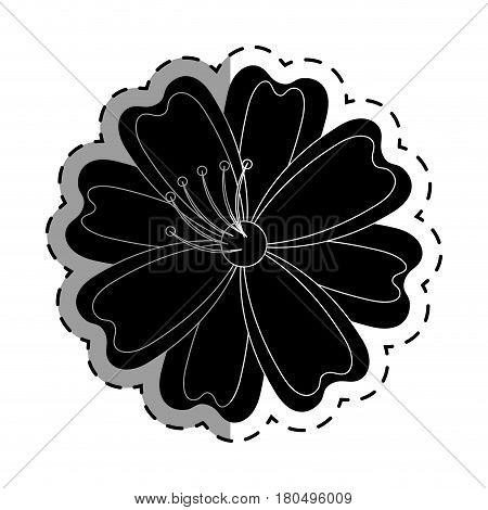 japanese cute flower icon vector illustration design