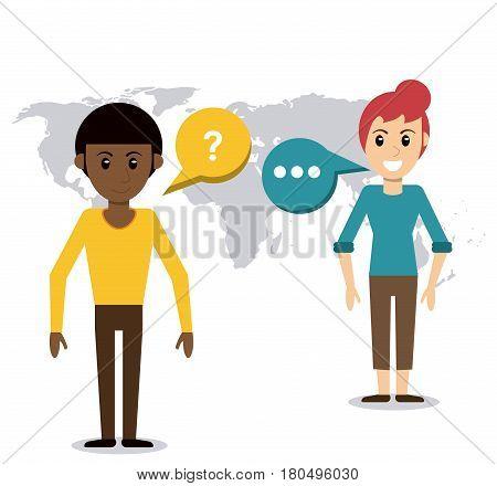 people talking dialog world vector illustration eps 10