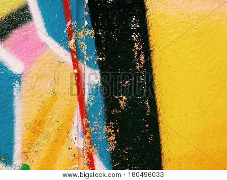 Graffiti wall background. Urban street art design
