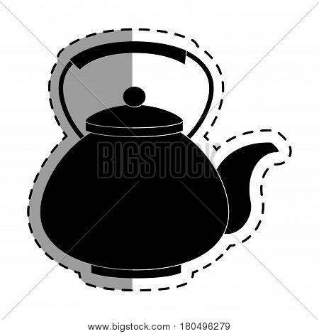 teapot japanese culture icon vector illustration design