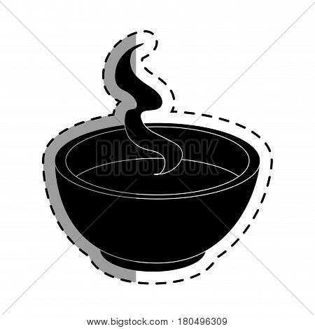 tea cup japanese culture icon vector illustration design