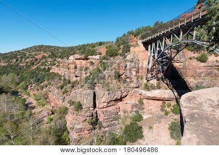 Bridge over Oak Creek in Sedona Arizona