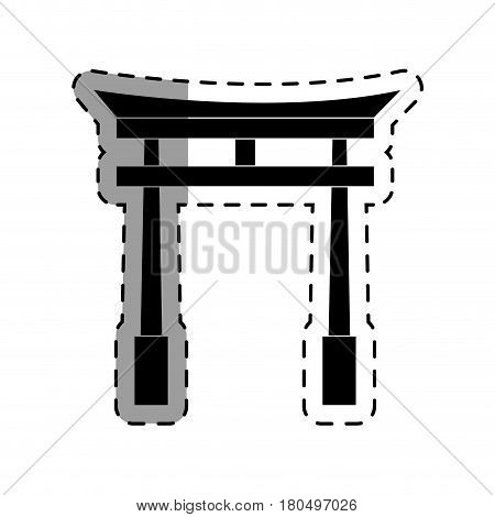 portal japanese culture icon vector illustration design