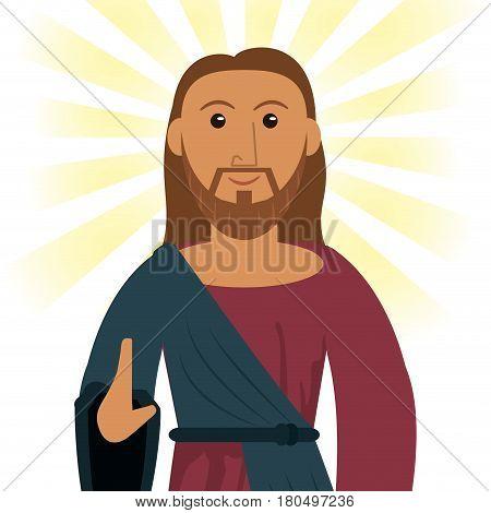jesus christ devotion spiritual image vector illustration eps 10