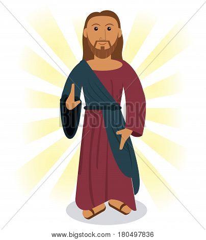 jesus christ prayer image vector illustration eps 10