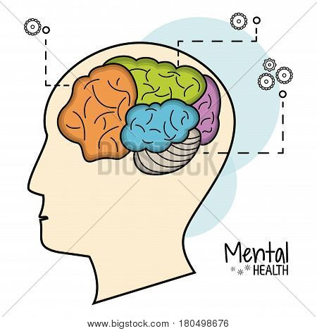 mental health brain function image vector illustration eps 10