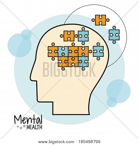 mental health brain puzzle image vector illustration eps 10