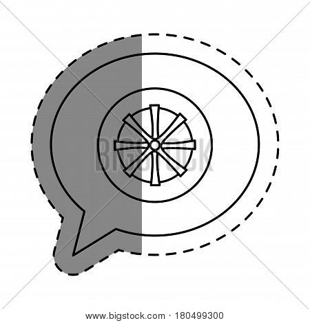 wheel car isolated icon vector illustration design