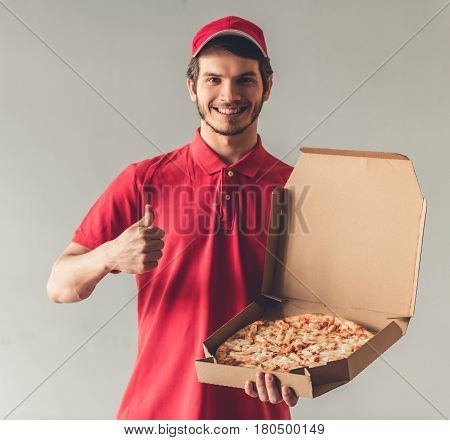 Handsome Young Delivery Worker