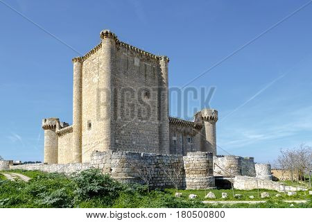Castle of the Franco de Toledo Villafuerte of Esgueva Valladolid Spain