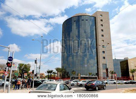 BEER SHEVA ISRAEL - APRIL 06 2017: Shopping and office center Merkaz Ha Negev in Be'er Sheva