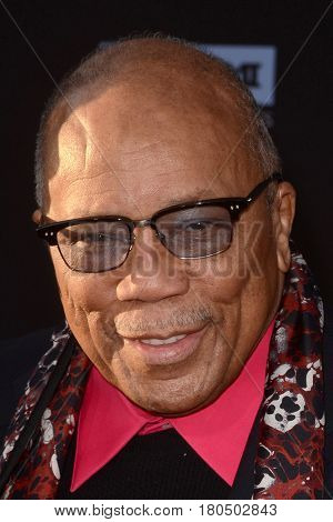 LOS ANGELES - APR 6:  Quincy Jones at the 2017 TCM Classic Film Festival Opening Night Red Carpet at the TCL Chinese Theater IMAX on April 6, 2017 in Los Angeles, CA