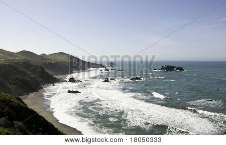Landscape of California Shore