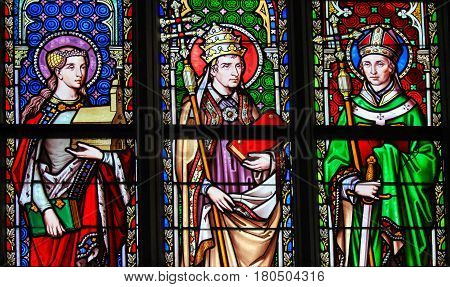 Saint Isabella, Saint Leo The Great And Saint Eugene