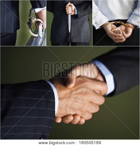 Business concept collage