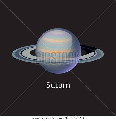 High quality space planet galaxy astronomy saturn universe science globe cosmos orbit star vector illustration. Astrology planetary world exploration journey scientific surface.