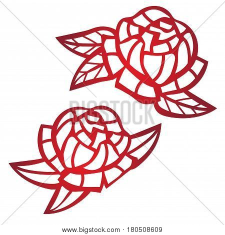 Laser cut flower pattern for decorative panel. Vector template ready for printing, postcards packets, wedding invitation, engraving, paper, wood, metal.Tattoo template.