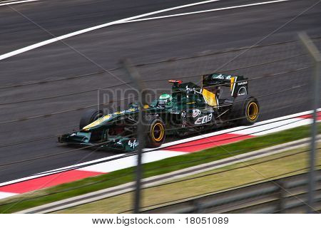 Heikki Kovalainen at the Shanghai International Circuit 2011