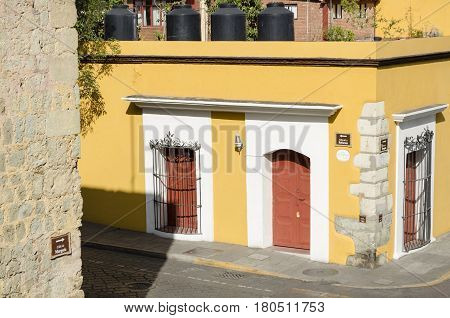 OAXACA, MEXICO- MARCH 10,2017: Street view in Oaxaca Mexico on March 10 2017. Oaxaca is the capital and largest city of the Mexican state of the same name.