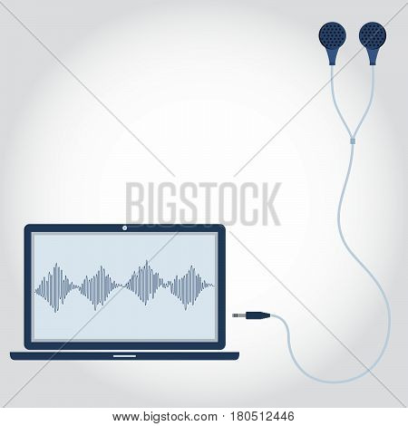 Laptop With Earphone