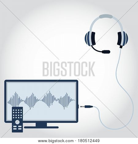 Television And Headphone With Microphone