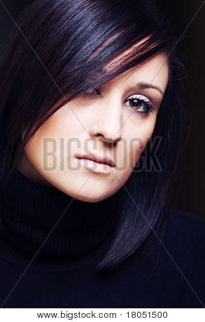 Fashion Portrait Of A Beautiful Brunette