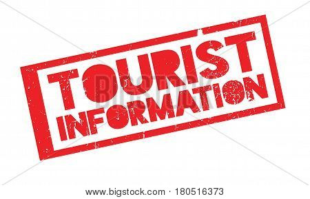 Tourist Information rubber stamp. Grunge design with dust scratches. Effects can be easily removed for a clean, crisp look. Color is easily changed.