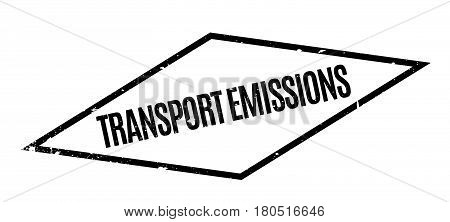 Transport Emissions rubber stamp. Grunge design with dust scratches. Effects can be easily removed for a clean, crisp look. Color is easily changed.