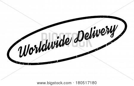 Worldwide Delivery rubber stamp. Grunge design with dust scratches. Effects can be easily removed for a clean, crisp look. Color is easily changed.