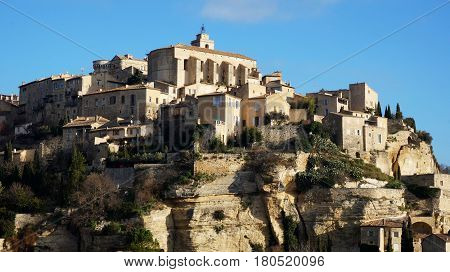 Hilltop Village Gordes In The French Provence