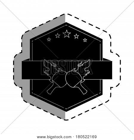ping pong rackets emblem vector illustration design