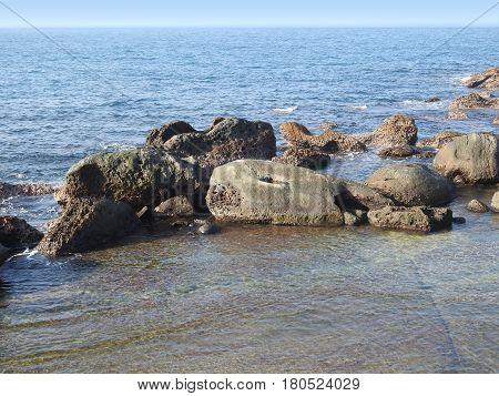 Yehliu Geopark Taiwan with unique shape rock formation