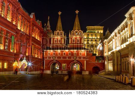 The State Historical Museum of Russia. Located between Red Square and Manege Square in Moscowwas founded in 1872.