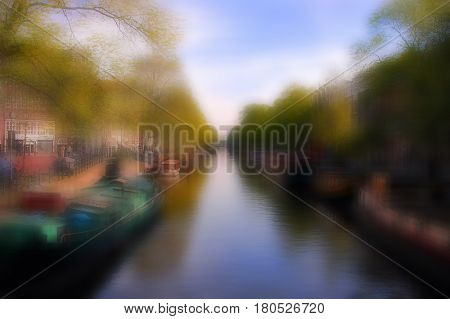 Beautiful Image of a main canal in amsterdam