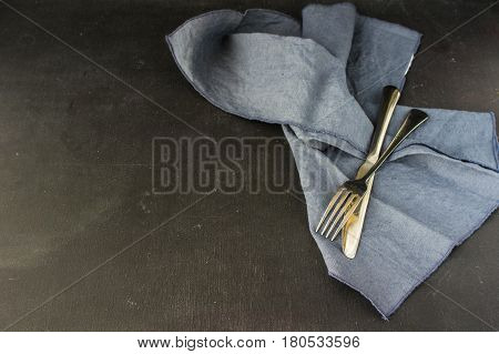 Table Setting On Dark Background