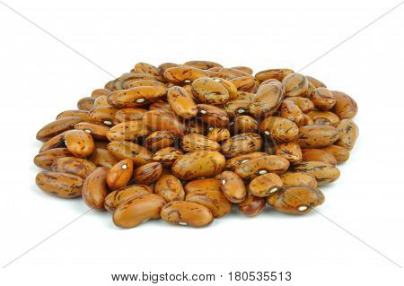 Pinto beans, legumes isolated on white background