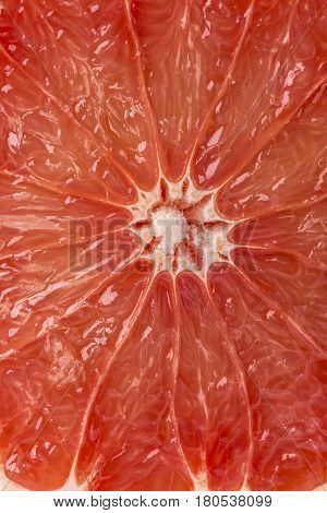 highly detailed ripe juicy grapefruit central part background