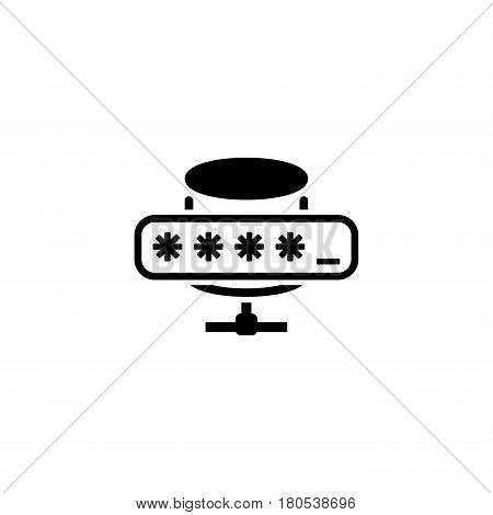 Database Protection Icon. Flat Design. Business Concept Isolated Illustration.