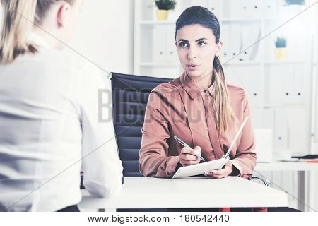 Job Interview Of A Woman