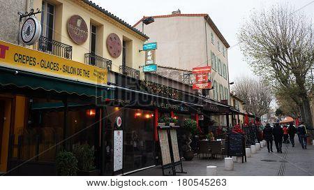 Beautiful Street In Nice, France