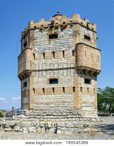 Monreal Tower is a defensive structure built in the thirteenth century on a watchtower southwest of Tudela Spain
