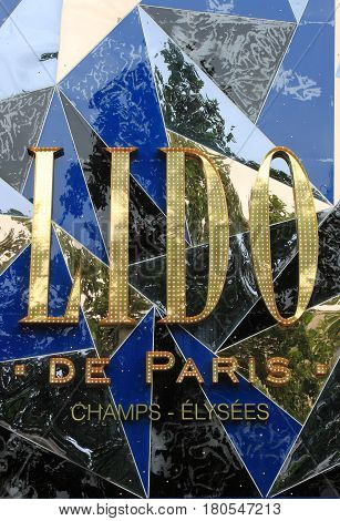 PARIS FRANCE - MAY 23 2015: Lido de Paris - the famous club and cabaret stage on May 23 2015 in Paris