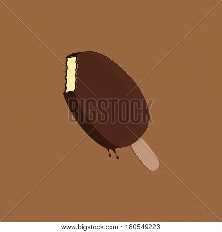 ice cream pop flat illustration - vector eps 10